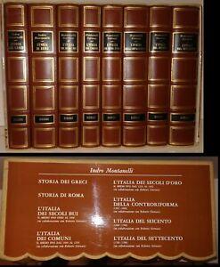 LS- COFANETTO 8 VOLUMI STORIA GRECI ROMA D'ITALIA - MONTANELLI- RIZZOLI- 1970- C