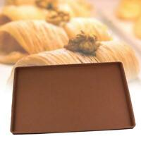 Practical Soft Silicone Pastry Cookie Bake Mould Cake Roll Bake Pan Sheet Pad LJ