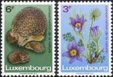 Luxembourg 1970 Hedgehog/Flower/Animals/Plants/Nature Conservation 2v set n23808