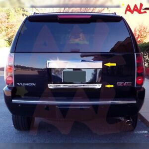 AAL For 07-13 GMC Yukon XL Chrome Rear Hatch Lift Gate Trunk Cover Upper & Lower