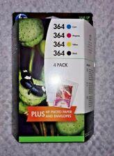 Genuine HP 364 Ink Cartridges Black Cyan Magenta Yellow HP364 4-pack