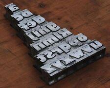 a-z Bleischrift 27mm Bleialphabet Buchstaben Letter Stempel Bleistempel Lettern