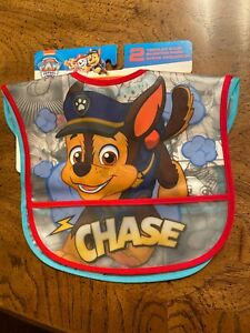 Paw Patrol 2-Pack Toddler Baby Bibs Chase Marshall Nickelodeon Water Resistant