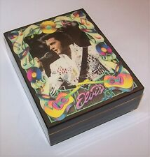"""Vintage 1991 Elvis Presley """"My Way"""" Hamilton Gifts Numbered Limited Music Box"""