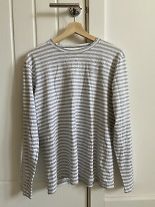 Norse Projects James Logo Stripe Long Sleeve T-shirt Great Condition Medium