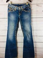 True Religion Joey Big T Low Rise Flare Women's  Denim Blue Jeans  size 27
