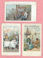 Bensdorp's Royal Dutch Cocoa and Chocolates Amsterdam Three Early Postcards