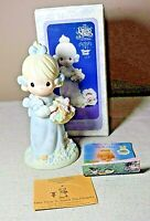 Precious Moments Take Time to Smell the Flowers Porcelain Figure w/ Box 524387