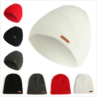 Women Ladies Winter Ski Thermal WARM Knit Knitted Winter BEANIE HAT Cap Outdoor