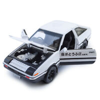 1:28 Initial D Toyota TRUENO AE86 Diecast Model Car Toy Gift Sound&Light White