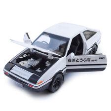 1:28 Initial D Toyota TRUENO AE86 Diecast Model Car Toy Gift Sound&Light White
