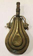 Ancienne poire a poudre en bronze, berbère Ottoman Maroc Afrique du Nord