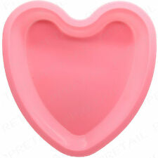 PINK SILICONE HEART BAKING MOULD +LARGE & DEEP+ Chocolate Setting Valentine Cake