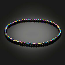 Men Women's Colorful Magnetic Clasp Hematite Short Beads Necklace Pendant Gifts