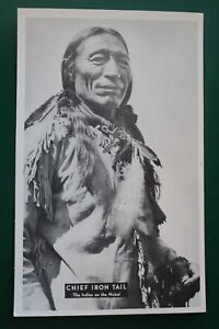CHIEF IRON TAIL (INDIAN ON THE NICKEL) AT 101 RANCH OKLAHOMA POSTCARD