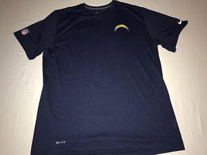 San Diego Chargers Nike Dri-Fit T Shirt Mens XXL NFL On Field Navy Blue NWOT!