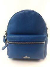 7df265a191b68 New Coach F28995 Charlie Pebble Leather MINI Backpack Shoulder Bag Atlantic  Blue
