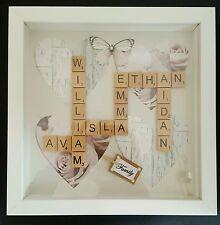 Beautiful *PERSONALISED* SCRABBLE Word Art Frames. Familys. Birthday. Wedding.