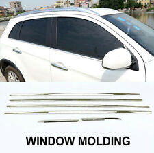 6PC FOR MITSUBISHI OUTLANDER SPORT ASX CHROME DOOR WINDOW LINE SILL TRIM COVER