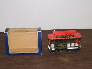 GHIRARDELLI CHOCOLATE POWELL & HYDE STS TOY CABOOSE TRAIN TROLLEY CANDY HOLDER