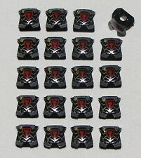 LEGO LOT OF 20 NEW CASTLE ARMOR BREASTPLATE PIECES WITH KINGDOMS DRAGON LOGO