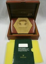 ROLEX Oyster Quartz Leather & Wood Watch Gift Box Ref. 55.00.01 + Docs Holder
