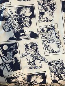 Marvel Comics Kids Avengers Twin Flat And Fitted Sheets Microfiber EUC