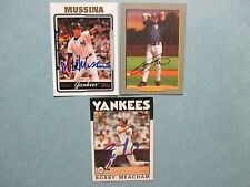 MIKE  MUSSINA/CHIEN-MING  WANG/BOBBY  MEACHAM   Yankees  Signed  Baseball  Cards