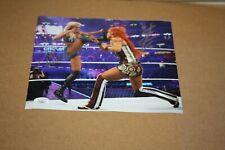 WWE DIVAS CHARLOTTE FLAIR & BECKY LYNCH DUAL SIGNED AUTO 8X10 PHOTO MATCH JSA