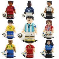 Football Player Minifigures Set 10 Ronaldo Messi Neymar Becham De Bruyne Cavani