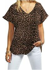 Womens Ladies Baggy Oversized Turn Up Sleeve V Neck Batwing Shirt Top T Shirt