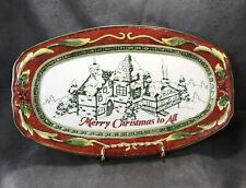 Fitz & Floyd St Nick Sentiment Tray Platter in Box Merry Christmas to All 2008