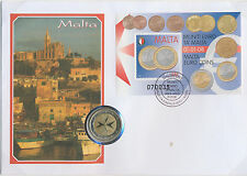 Malta numisbrief 2 euros rumbo moneda 2008