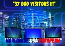 TRAFIC WEB TRAFFIC ONLINE WEBSITE 37 000 REAL VISITORS WORLDWIDE USA EUROPEAN