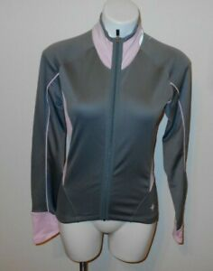 Women's  SPECIALIZED Long Sleeve Cycling Jersey Sz M GRAY PINK