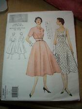VINTAGE VOGUE 2267 Sewing Pattern Dress Bolero 1954 Design Sz 14 NEW UNCUT!