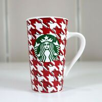 Starbucks Coffee Tall Mug 16 oz Red Green Check Winter 2017 Euc