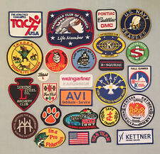 Vintage Lot of 25 Souvenir PATCHES FISHING NAVY SEABEES RACING CLEMSON TIGERS ++