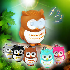 Top Toys Cute Owl Keyring Luminous Voice Keychain LED Light Flashlight Key Chain