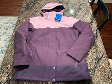 Columbia Womens L Snowshoe Mountain Omni Heat Waterproof Hooded Ski Jacket Pink