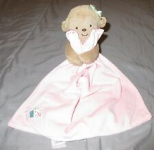Child of Mine Sweet Monkey Pink Lovey Security Blanket Rattle Cupcake Green Bow