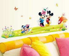 Large Wall Sticker Mickey&Minnie Mural Vinyl Decals Kids Boys Girls Room Decor