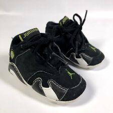 Baby Jordan #23 XIV 132550-002 Black White Green Leather Shoes Infant Boys 1C