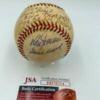 Rare New York Yankees 1998 111th Win AL Record Game Used Signed Baseball JSA