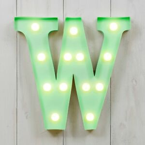 CIRCUS STYLE LED LIGHT UP METAL LETTER - W 'RAW'
