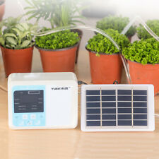 Timer Automatic Drip Irrigation Kit Home Garden Plant Self Watering System Solar