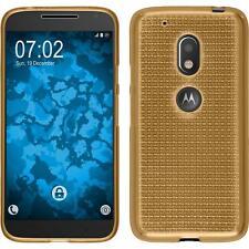 Funda de silicona Motorola Moto G4 Play Iced - oro + protector de pantalla