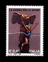 ITALIA REP. - 2002 - La donna nello sport 0,41 € - Atleta - mnh Yvert 2616