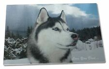 Siberian Husky 'Love You Dad' Extra Large Toughened Glass Cutting, C, DAD-49GCBL
