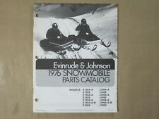 Omc 1976 Evinrude Johnson Snowmobile Parts List Catalog (Covers 14 Models)